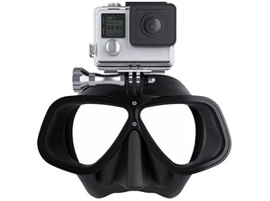 Maska nurkowa Octomask Freediver Black do GoPro