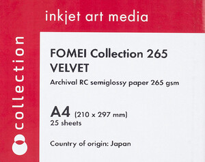 Papier Foto Fomei Collection Velvet A4/25 G265 EY5755 Archival RC