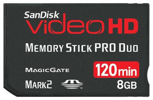 SanDisk Memory Stick PRO Duo 8GB Video HD