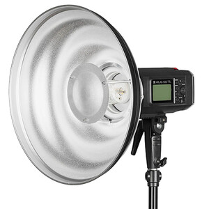 Beauty Dish Quadralite Wave srebrny 42